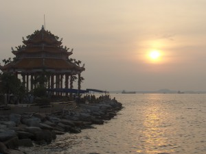 Temple on Ko Loi jetty