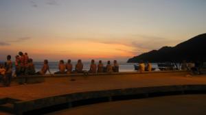 Gringos watching sunset