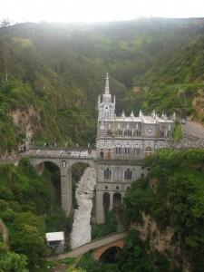 Santuario de Las Lajas, (not the view from my room)